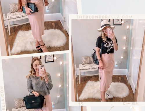 Pink Skirt Styled 3 Different Ways